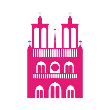 cathedral notre dame icon vector illustration design Illustration