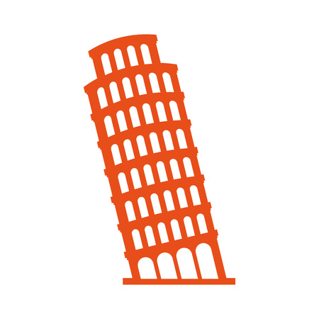 pisa tower italy icon vector illustration design