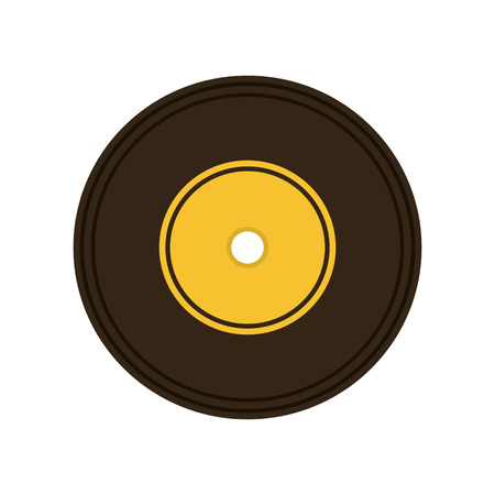 disk jockey: long play retro music vector illustration design