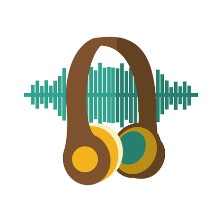 entertainment center: earphones audio device icon vector illustration design