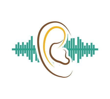 audition: ear audio organ icon vector illustration design