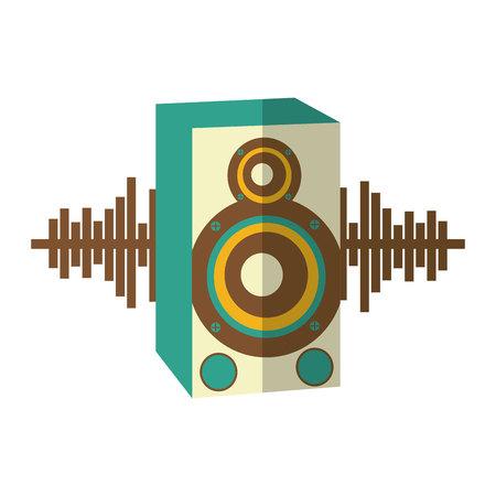speaker audio device icon vector illustration design