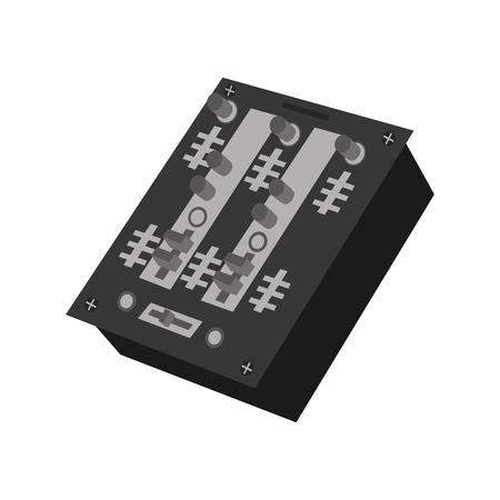 instrument panel: audio console professional icon vector illustration design Illustration