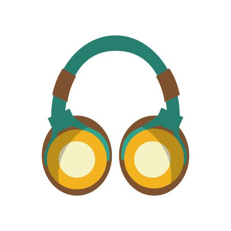 portable audio: earphones audio device icon vector illustration design