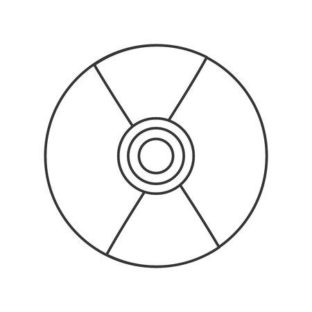 compact: compact disk audio device icon vector illustration design Illustration