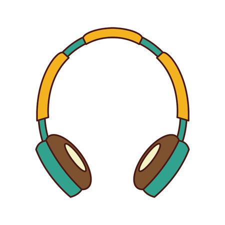이어폰 오디오 장치 아이콘 벡터 일러스트 레이 션 디자인