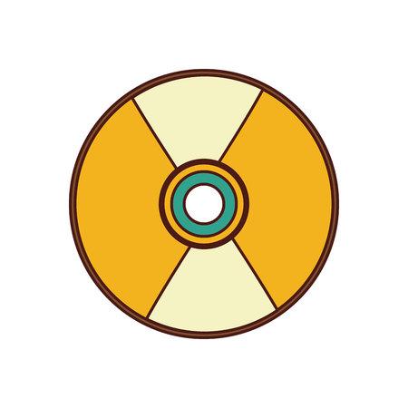 compact disk audio device icon vector illustration design Illustration