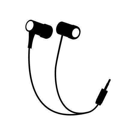 earbud: earphones audio device icon vector illustration design