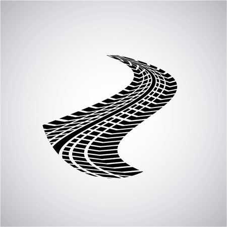 wheel print design over white background. vector illustration Illustration