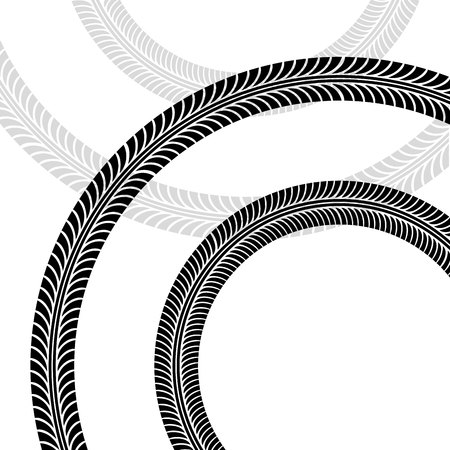 background of wheels print in circles shapes. vector illustration