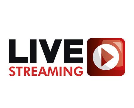 Live straming concept geïsoleerd pictogram vector illustratie ontwerp