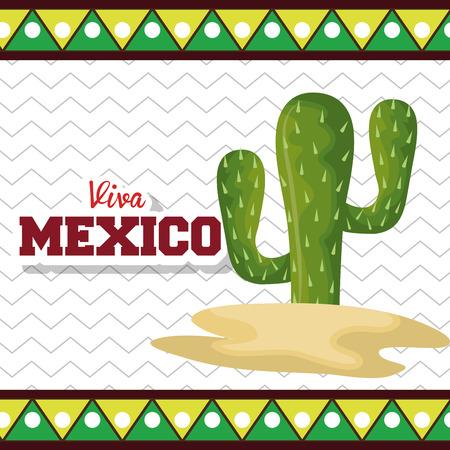 Viva墨西哥海报图标矢量插图设计