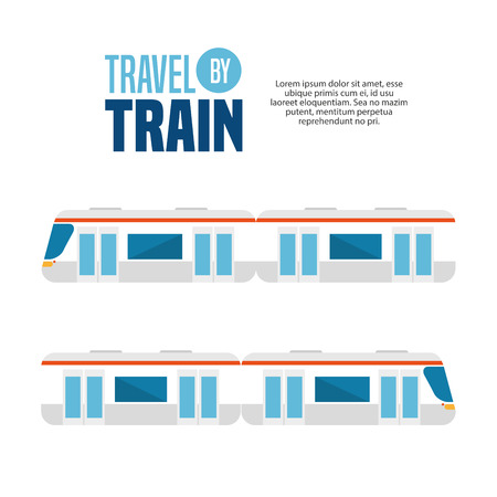 high speed train: travel by train concept icon vector illustration design