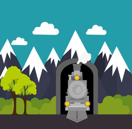 travel by train concept icon vector illustration design