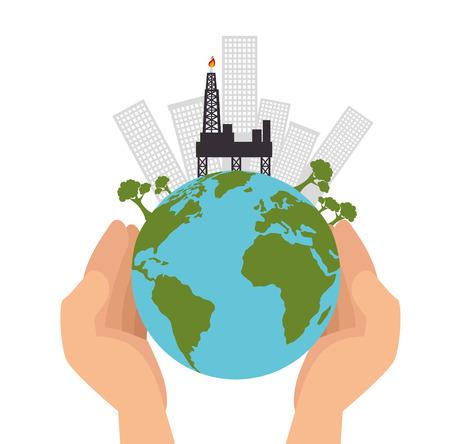 save the world concept icon vector illustration design Illustration
