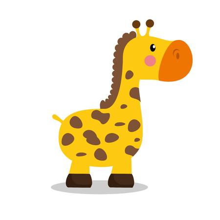 lindo bebé jirafa icono de la ilustración vectorial de diseño