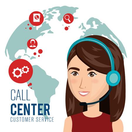representative: call center customer service vector illustration design