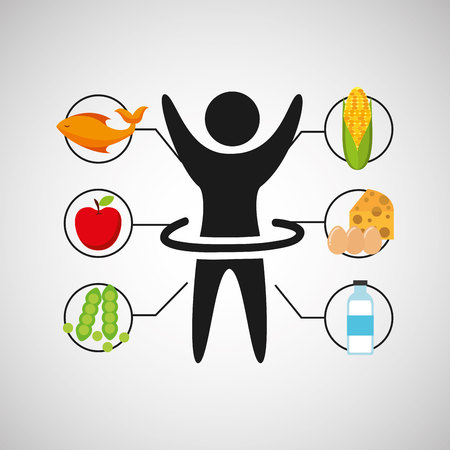 sport man artistic gymnatics nutrition health vector illustration eps 10