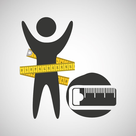 lose weight concept tape measure icon vector illustration eps 10 Illustration