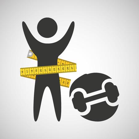 perder el concepto de peso dummbell icono de ilustración vectorial eps 10