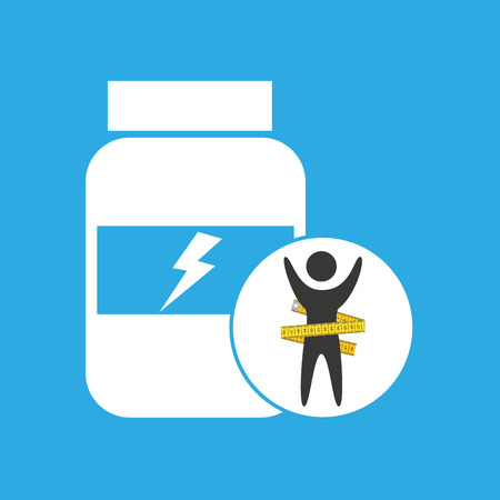 nutritional: lose weight concept nutrition proteine vector illustration eps 10 Illustration