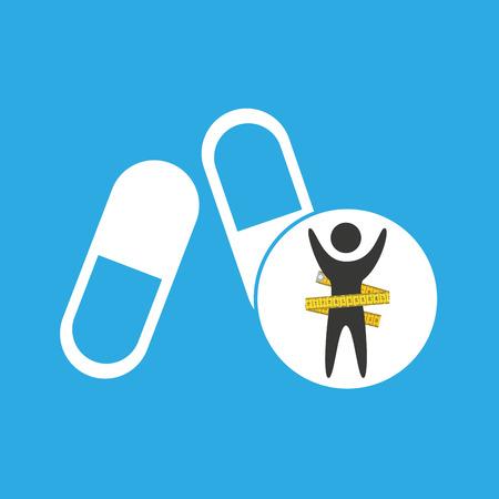 lose weight concept sport medicine vector illustration eps 10