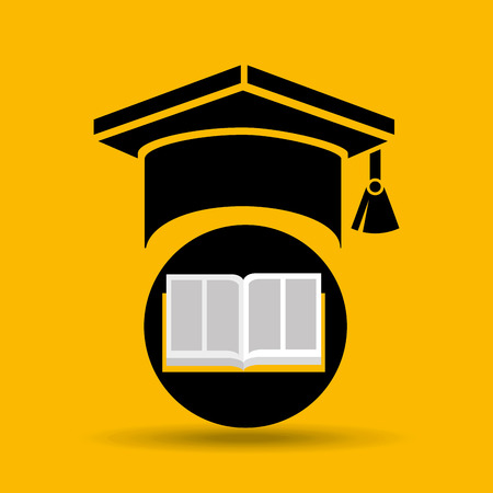 education opened book graduation cap vector illustration Illustration
