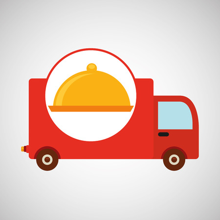 delivery truck food icon design vector illustration