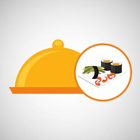 catering fresh sushi design graphic vector illustration