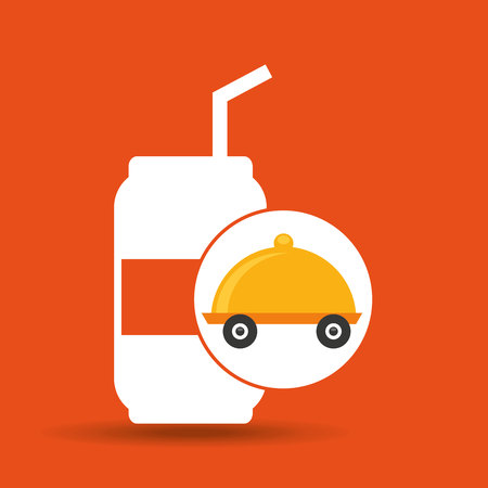fast delivery soda drink vector illustration