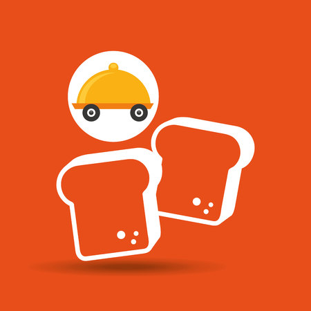 fast delivery food bakery icon vector illustration Illustration