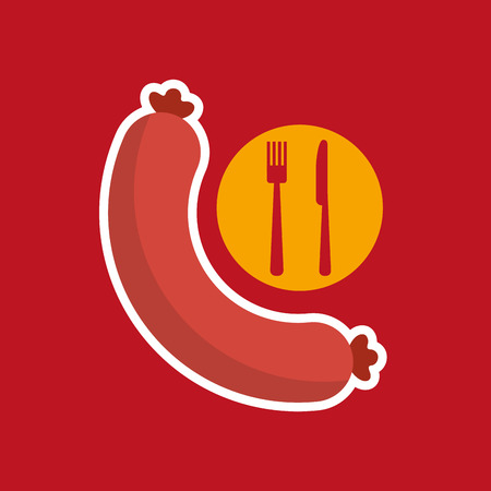 obsession: sausages. vector illustration