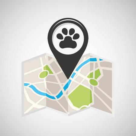 veterinary map pin pointer design vector illustration