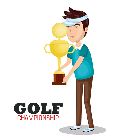 golf championship sport icon vector illustration design