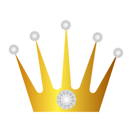 royal person: crown with diamonds isolated icon vector illustration design