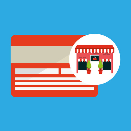 cute store shopping card vector illustration eps 10