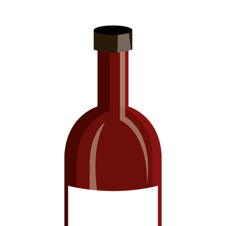delicious wine bottle drink vector illustration design