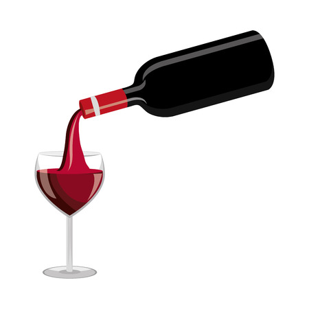 delicious wine cup drink vector illustration design Illustration