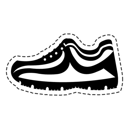 tennis shoes sport isolated icon vector illustration design