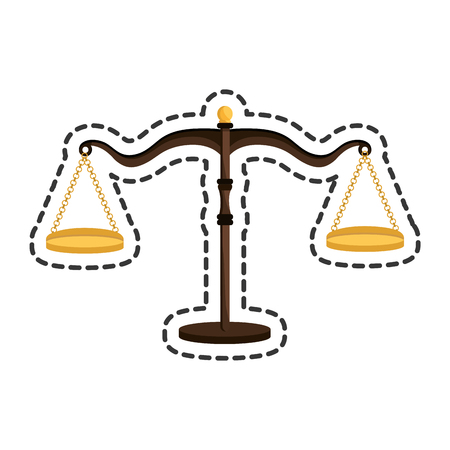 scale of justice: balance scale justice isolated icon vector illustration design