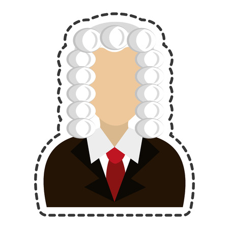 magistrate: judge avatar character icon vector illustration design