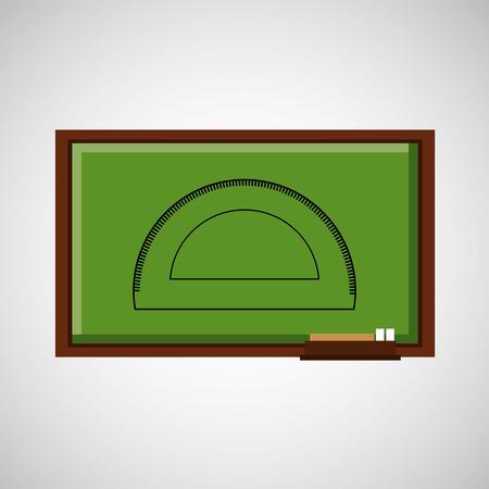 protractor: education concept blackboard with protractor vector illustration eps 10