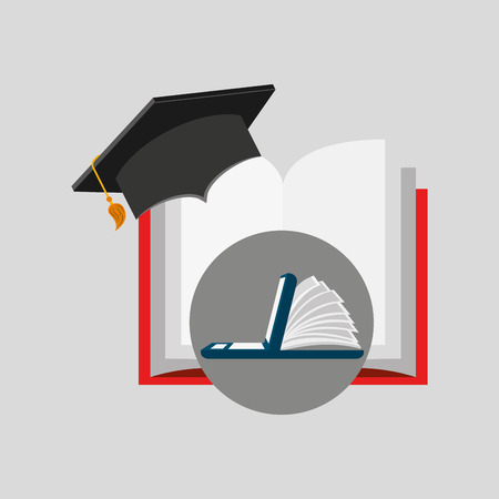 online learning open book cap graduation education vector illustration eps 10 Illustration