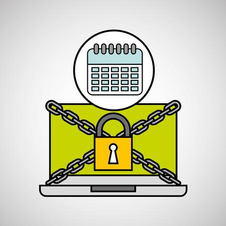 calendar security internet technology vector illustration eps 10