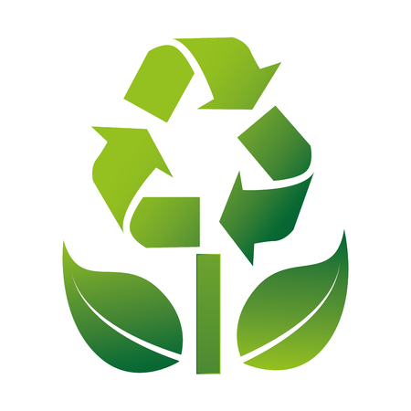 recycle reduce reuse: recycle symbol with arrows vector illustration design