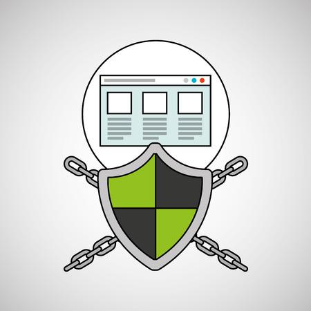 security system data web page vector illustration Illustration