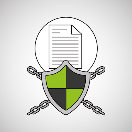 security system data document vector illustration