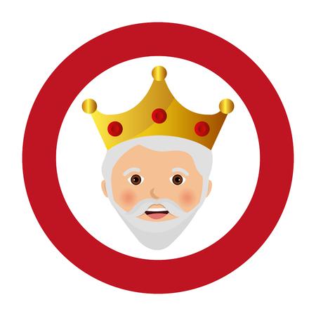 happy epiphany card manger character vector illustration design
