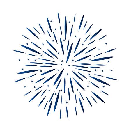 united states of america fireworks party vector illustration design Illustration