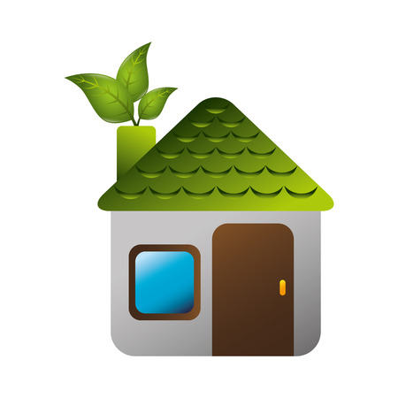 house ecology symbol icon vector illustration design